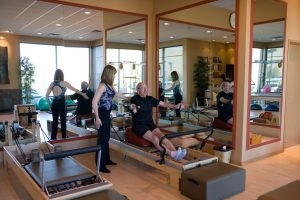 Hug a Tree on Reformer modified for back pain